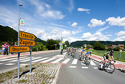 Cyclists during 1st Stage (164 km) at 19th Tour de Slovenie 2012, on June 14, 2012, in Novo Mesto, Slovenia. (Photo by Urban Urbanc / Sportida)