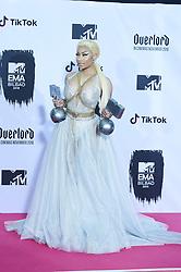 November 4, 2018 - Madrid, Madrid, Spain - Nicki Minaj poses in the press room during the 25th MTV EMAs 2018 held at Bilbao Exhibition Centre 'BEC' on November 5, 2018 in Madrid, Spain (Credit Image: © Jack Abuin/ZUMA Wire)