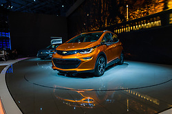 NEW YORK, USA - MARCH 23, 2016: Chevrolet Bolt EV on display during the New York International Auto Show at the Jacob Javits Center.