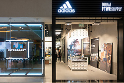 New Adidas footwear shop , Dubai FTWR Supply, inside Dubai Mall, Dubai,UAE