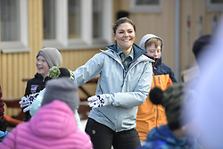 March 29, 2019 - Kalix, Sweden - Crown Princess Victoria is seen dancing ''the Floss'' with students during her visit to the Vemdalen School during her province walk in county Harjedalen on Friday, March 29, 2019..Photo: Pontus Lundahl / TT / code 10050. (Credit Image: © Pontus Lundahl via ZUMA Press)