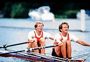 Henley. England, 1989 Henley Royal Regatta, River Thames, Henley Reach,  [© Peter Spurrier/Intersport Images],  NED M2X, Ronald  Floryn Nico  Rienks, Die Leythe & Okeanos, Holland,
