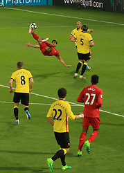 1 May 2017 - Premier League - Watford v Liverpool - Emre Can of Liverpool scores the opening goal with a bicycle kick - Photo: Marc Atkins / Offside.