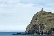 The Milner's Tower on Bradda Head, near Port Erin. Hiking the Raad ny Foillan coastal path or 'Way of the Gull', Isle of Man © Rudolf Abraham