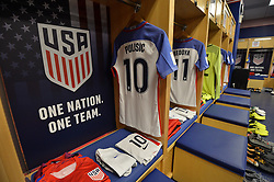 September 1, 2017 - Harrison, NJ, USA - Harrison, N.J. - Friday September 01, 2017: U.S. Men's National team locker room prior to their match against Costa Rica during a 2017 FIFA World Cup Qualifying (WCQ) round match between the men's national teams of the United States (USA) and Costa Rica (CRC) at Red Bull Arena. (Credit Image: © John Todd/ISIPhotos via ZUMA Wire)