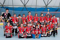 Team HK Prevoje in second place at gold medal game between Hobby Stars an HK Prevoje in Inline Hockey National Championship Under 10, Hobby Stars won 2-1 in overtime, on June 5, 2011 in Rekreacijski Center Urbanija, Lukovica, Slovenia. (Photo by Matic Klansek Velej / Sportida)