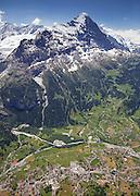 Postkarte A6: Eiger, Grindelwald (0227)