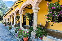 Paipa , Colombia  - February 14, 2017 : Hacienda Del Salitre hotel of Paipa Boyaca in Colombia South America