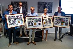 CSIO Participations for Belgium<br /> Philippaerts Ludo, Detry Stefan, Demeersman Dirk, Wauters Yolande, Le Jeune Philippe<br /> Team presentation for WEG Tryon 2018<br /> Zaventem 2018<br /> © Hippo Foto - Dirk Caremans<br /> 22/08/2018
