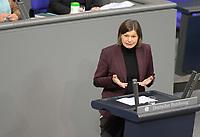 DEU, Deutschland, Germany, Berlin, 29.01.2021: Dr. Manuela Rottmann (Die Grünen) in der Plenarsitzung im Deutschen Bundestag.