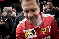 February 20, 2019 - Montmelo, Barcelona, Spain - Sebastian Vettel of Ferrari F1 Team  in the Paddock area  of the Circuit de Catalunya in Montmelo (Barcelona province) during the pre-season testing session. (Credit Image: © Jordi Boixareu/ZUMA Wire)
