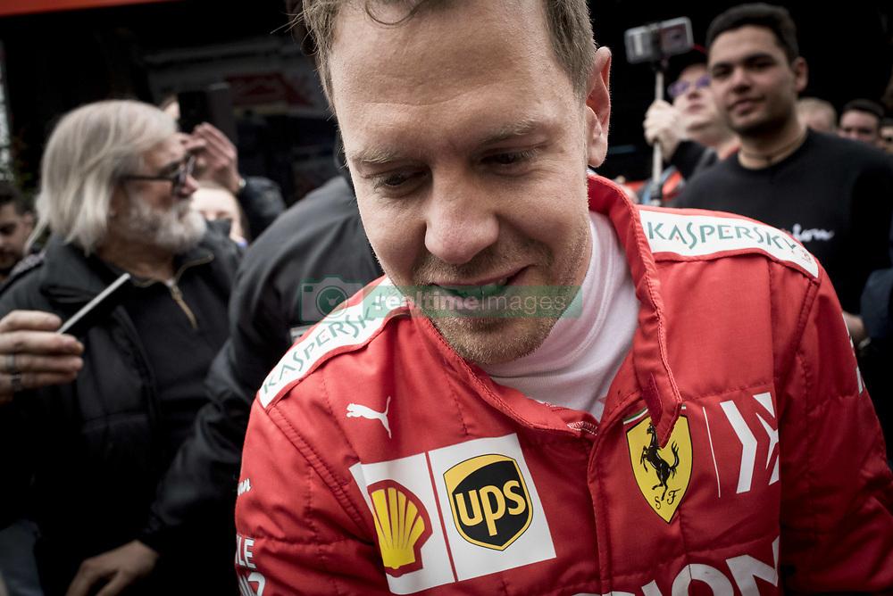 February 20, 2019 - Montmelo, Barcelona, Spain - Sebastian Vettel of Ferrari F1 Team  in the Paddock area  of the Circuit de Catalunya in Montmelo (Barcelona province) during the pre-season testing session. (Credit Image: © Jordi Boixareu/ZUMA Wire)