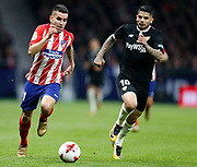 Atletico Madrid's Argentinian forward Angel Correa runs with the ball during the Spanish Cup, Copa del Rey quarter final, 1st leg football match between Atletico Madrid and Sevilla FC on January 17, 2018 at Wanda Metropolitano stadium in Madrid, Spain - Photo Benjamin Cremel / ProSportsImages / DPPI