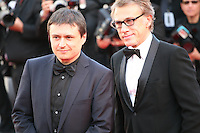 Cristian Mungiu and Actor Christoph Waltz at the 'Behind The Candelabra' gala screening at the Cannes Film Festival  Tuesday 21 May 2013