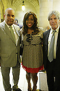 New York, NY- July 20: (L-R) Attorney Michael Hardy, National Action Network, Dominique Sharpton, National Action Network and Ken Sunshine, Sunshine Sachs attends the preaching of ' God is Here ' a sermon preached by Rev. Al Sharpton held at the historic Riverside Church on July 20, 2014 in New York City.  (Terrence Jennings)