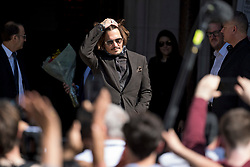 © Licensed to London News Pictures. 22/07/2020. London, UK. American actor JOHNNY DEPP arrives at the High Court in London where Johnny Depp is in a legal dispute with UK tabloid newspaper The Sun over allegations he assaulted his former wife, Amber Heard. Photo credit: Ben Cawthra/LNP