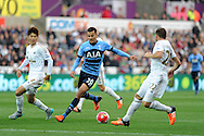 Dele Alli of Tottenham Hotspur © in action. Barclays premier league match, Swansea city v Tottenham Hotspur at the Liberty Stadium in Swansea, South Wales on Sunday 4th October 2015.<br /> pic by  Andrew Orchard, Andrew Orchard sports photography.