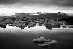 The lake Jokulsarlon at Breidamerkursandur, Iceland - Jökulsárlón