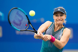 Sept. 27, 2017- Wuhan, China - EKATERINA MAKAROVA of Russia returns the ball during the singles third round match against her compatriot D. Kasatkina at 2017 WTA Wuhan Open in Wuhan, capital of central China's Hubei Province. Makarova won 2-0.  (Credit Image: © Zhang Duan/Xinhua via ZUMA Wire)