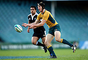 Sam Norton-Knight passes. Australia A v New Zealand Maori during the 2008 IRB Pacific Nations Cup played at the Sydney Football Stadium, Australia on Sunday June 6. Photo: Clay Cross/SPORTSPICS<br /> clayjcross@bigpond.com    +61 413836650