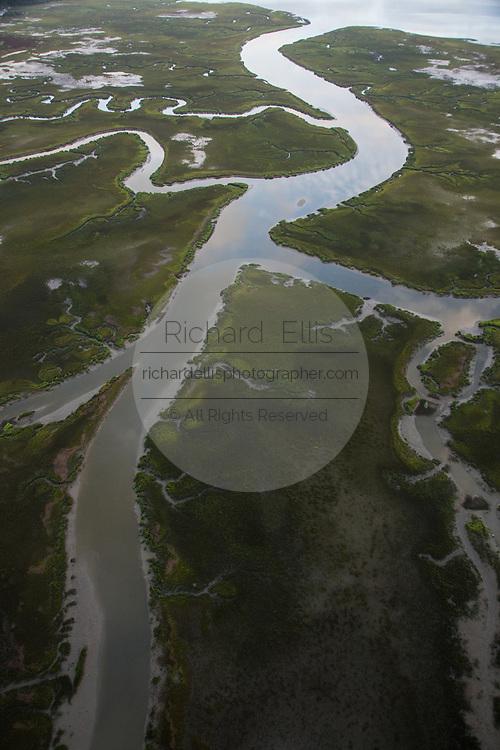 Aerial view of Molasses Creek in Mt Pleasant, SC