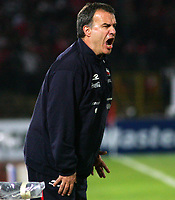 CHILE (4) vs. COLOMBIA (0) in their World Cup 2010 qualifying soccer match in Santiago, Chile. September 10, 2008<br /> Here CHILE head coach MARCELO BIELSA<br /> © PikoPress
