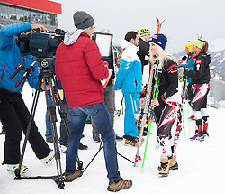 06.10.2015, Moelltaler Gletscher, Flattach, AUT, OeSV Medientag, im Bild Eva Maria Berm bei Interviews // Austrian Skiracer Eva Maria Berm during the media day of Austria Ski Federation OSV at Moelltaler glacier in Flattach, Austria on 2015 10/05. EXPA Pictures © 2015, PhotoCredit: EXPA/ Johann Groder