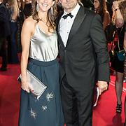 NLD/Amsterdam/20171012 - Televizier-ring Gala 2017, Victor Reinier en partner Aimee Kiene
