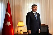Ahmet Davutoglu portraits FT