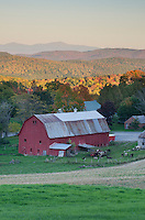 Rural scene with red barn, Peacham, Vermont