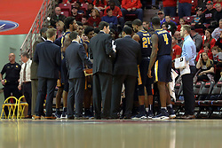 09 December 2017:  Racers huddle during a College mens basketball game between the Murray State Racers and Illinois State Redbirds in  Redbird Arena, Normal IL