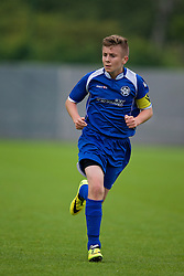 NEWPORT, WALES - Tuesday, May 27, 2014: North WPL Academy Boys' captain Ryan Reynolds during the Welsh Football Trust Cymru Cup 2014 at Dragon Park. (Pic by David Rawcliffe/Propaganda)