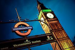 Westminster Station, em frente ao Big Ben em Londres, Inglaterra, Reino Unido, Europa. FOTO: Jefferson Bernardes/ Agência Preview