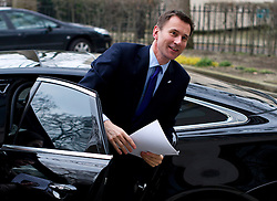 © London News Pictures. 12/02/2013 . London, UK.  Secretary of State for Health, Jeremy Hunt at the Royal College of Obstetricians and Gynaecologists in London to speak at a conference on NHS reform on February 12, 2013.  Photo credit : Ben Cawthra/LNP