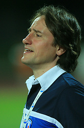 Head coach of Gorica Primoz Gliha during 2nd match of 1st round Intertoto Cup soccer match between ND Gorica and Hibernians FC at Sports park, on June 28,2008, in Nova Gorica, Slovenia. (Photo by Vid Ponikvar / Sportal Images)
