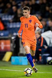 Oussama Idrissi of Jong Oranje during the EURO U21 2017 qualifying match between Netherlands U21 and Latvia U21 at the Vijverberg stadium on October 06, 2017 in Doetinchem, The Netherlands