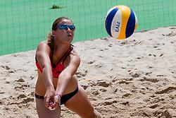 Dajana Lucas at Zavarovalnica Triglav Beach Volley Open as tournament for Slovenian national championship on July 29, 2011, in Preddvor, Slovenia. (Photo by Matic Klansek Velej / Sportida)