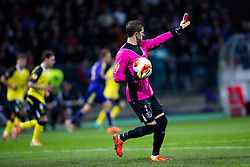 Javier Varas of Sevilla during football match between NK Maribor and Sevilla FC (ESP) in 1st Leg of Round of 32 of UEFA Europa League 2014 on February 20, 2014 at Stadium Ljudski vrt, Maribor, Slovenia. Photo by Matic Klansek Velej / Sportida