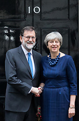 © Licensed to London News Pictures. 05/12/2017. London, UK. British Prime Minister Theresa May meets Spanish Prime Minister Mariano Rajoy in Downing Street. Photo credit : Tom Nicholson/LNP