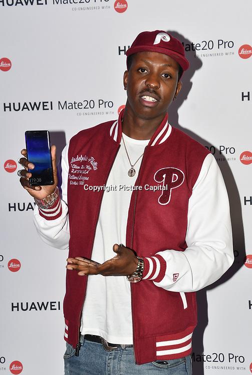 Jamal Edwards attend Huawei - VIP celebration at One Marylebone London, UK. 16 October 2018.
