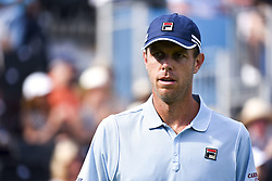 June 18, 2018 - London, England, United Kingdom - Sam Querrey of the United States reacts during the first round match against Jay Clarke of Great Britain during Day one of the Fever-Tree Championships at Queens Club on June 18, 2018 in London, United Kingdom. (Credit Image: © Alberto Pezzali/NurPhoto via ZUMA Press)