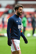 Nottingham Forest defender Danny Fox (13) during the EFL Sky Bet Championship match between Nottingham Forest and Derby County at the City Ground, Nottingham, England on 11 March 2018. Picture by Jon Hobley.