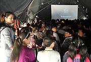 "ZHANGZHOU, CHINA - (CHINA OUT) <br /> <br /> ""Movie Theater"" In Rural China <br /> <br /> Villagers watch outdoor movies in a big tent at Yuantong village in Chaohu, Anhui Province of China. There are many movie projectionists working in rural areas to show movies for farmers.<br /> ©Exclusivepix"