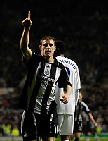 Photo: Jed Wee/Sportsbeat Images.<br /> Newcastle United v Tottenham Hotspur. The FA Barclays Premiership. 22/10/2007.<br /> <br /> Newcastle's James Milner celebrates after his goal.