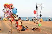 India, Tamil Nadu, pondicherry, People at leisure, on the beach