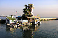 "Forbes Island -   Created as a floating home in 1975 the 100 foot long island  features live palm trees, a sand patio, a waterfall and a thatched Tahitian room. The lighthouse is complete with a viewing deck for visitors to marvel at San Francisco Bay views.  Forbes Thor Kiddoo started his career in the Coast Guard then began work as a carpenter going into business constructing floating homes with wood homes on top.  Receiving his inspiration from ""20,000 Leagues Under the Sea"", Forbes got the idea to build his own island paradise and launched Forbes Island in 1980."