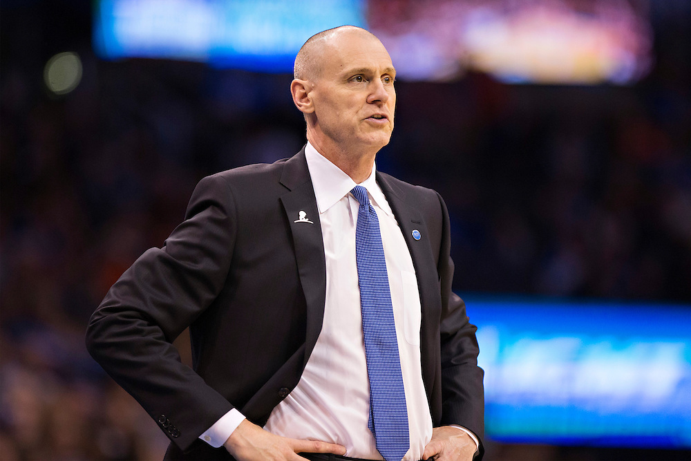 OKLAHOMA CITY, OK - JANUARY 13:  Head Coach Rick Carlisle of the Dallas Mavericks watches his team during a game against the Oklahoma City Thunder at Chesapeake Energy Arena on January 13, 2016 in Oklahoma City, Oklahoma.  NOTE TO USER: User expressly acknowledges and agrees that, by downloading and or using this photograph, User is consenting to the terms and conditions of the Getty Images License Agreement.   The Thunder defeated the Mavericks 108-89.  (Photo by Wesley Hitt/Getty Images) *** Local Caption *** Rick Carlisle