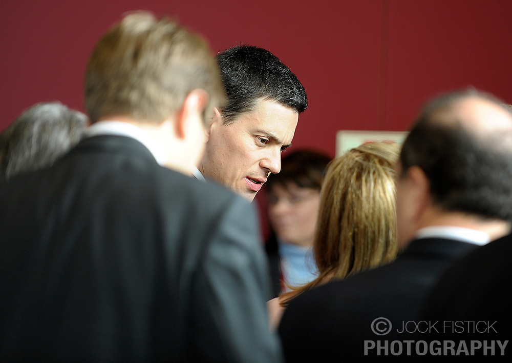 David Miliband, the UK's foreign minister, speaks with Benita Ferrero-Waldner, the EU's commissioner of external relations, during the European Summit, Thursday, March 19, 2009, in Brussels, Belgium. (Photo © Jock Fistick)
