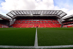 General view of Anfield before the game