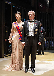 October 22, 2019, JAPAN: 22-10-2019 Gala Royals arrive at the Imperial Palace for the Court Banquets, the 'Kyoen-no-gi' banquet, after the ceremony of the enthronement of Emperor Naruhito in Tokyo, Japan Princess Victoria and King Carl Gustaf. (Credit Image: © face to face via ZUMA Press)